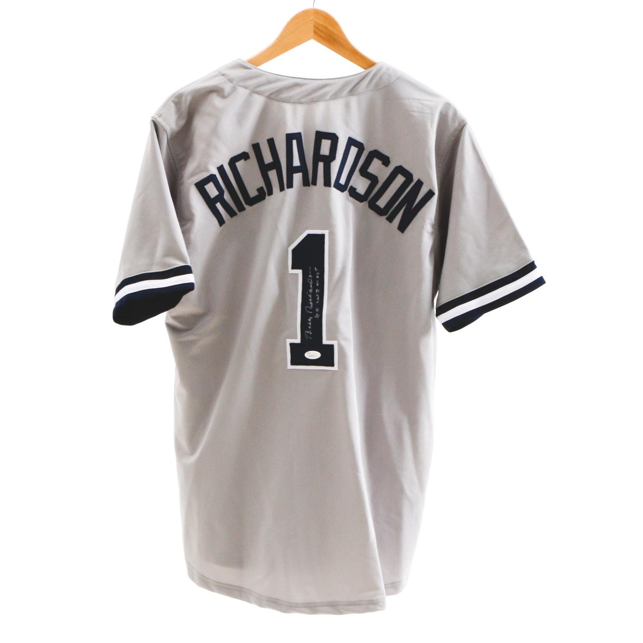 Bobby Richardson Signed New York Jersey  COA