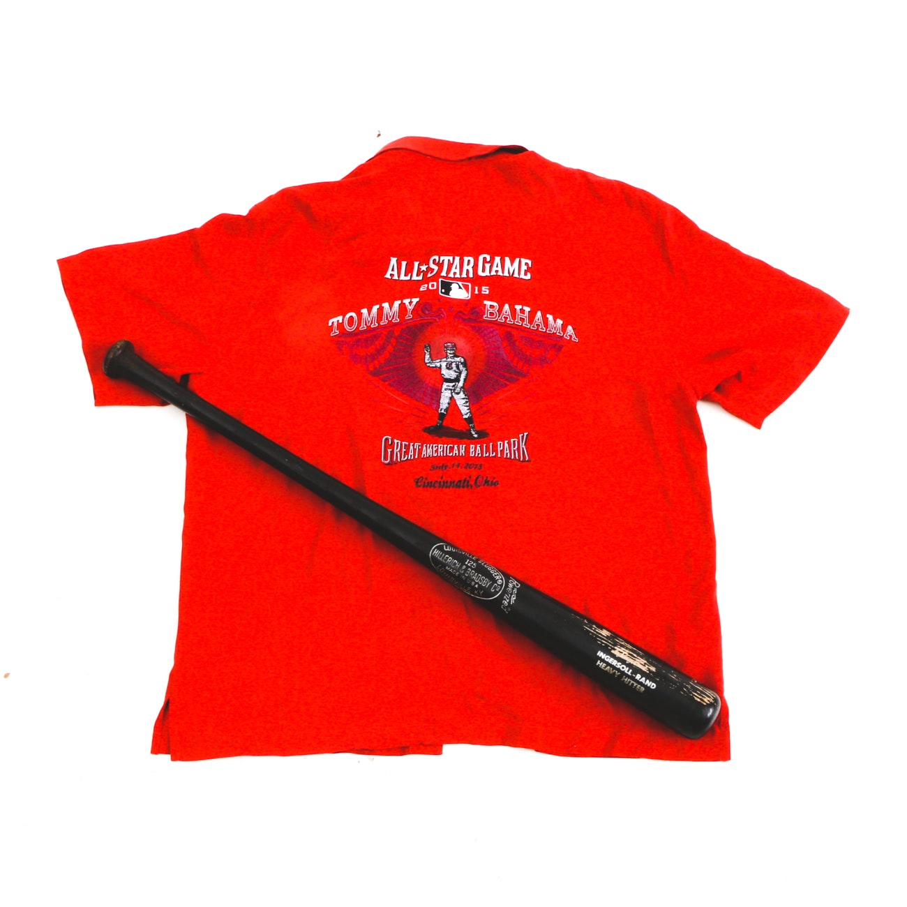 2015 Tommy Bahama All Star Shirt with Bat