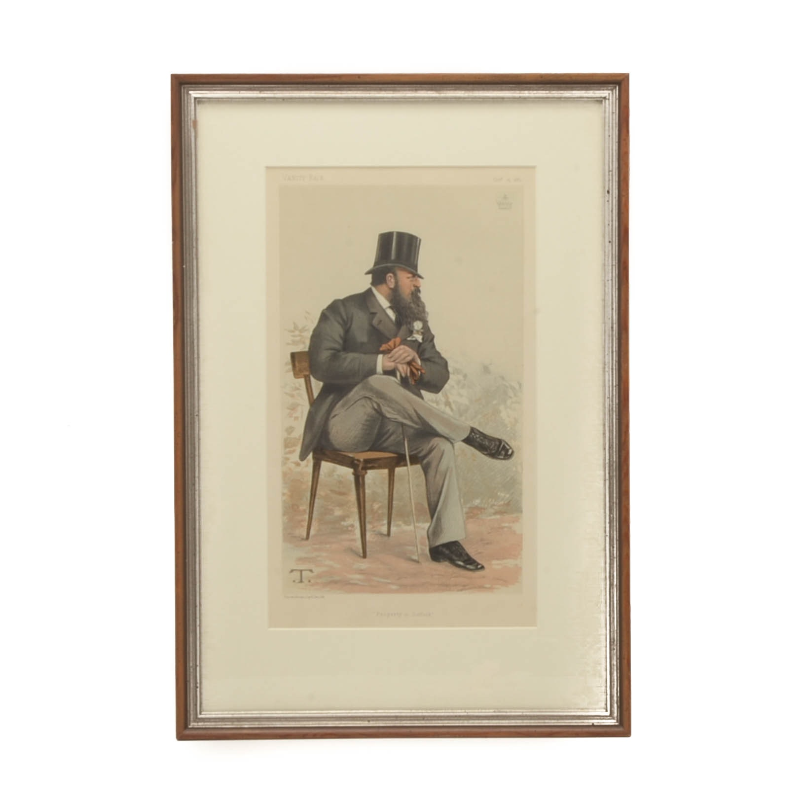 "Antique Vanity Fair Chromolithograph ""Property in Suffolk"""