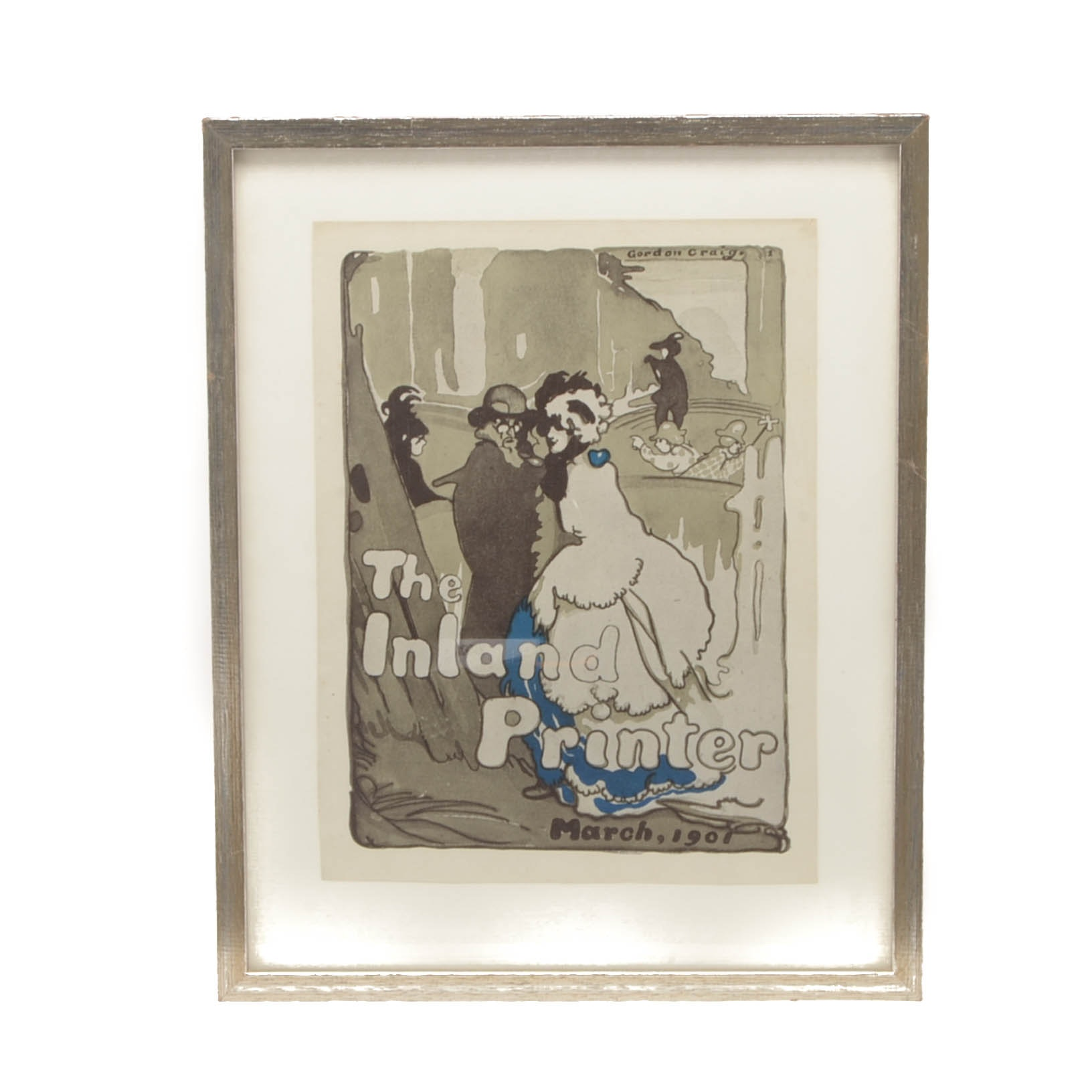 """Offset Lithograph after 1901 Gordon Craig Illustration for """"The Inland Printer"""""""