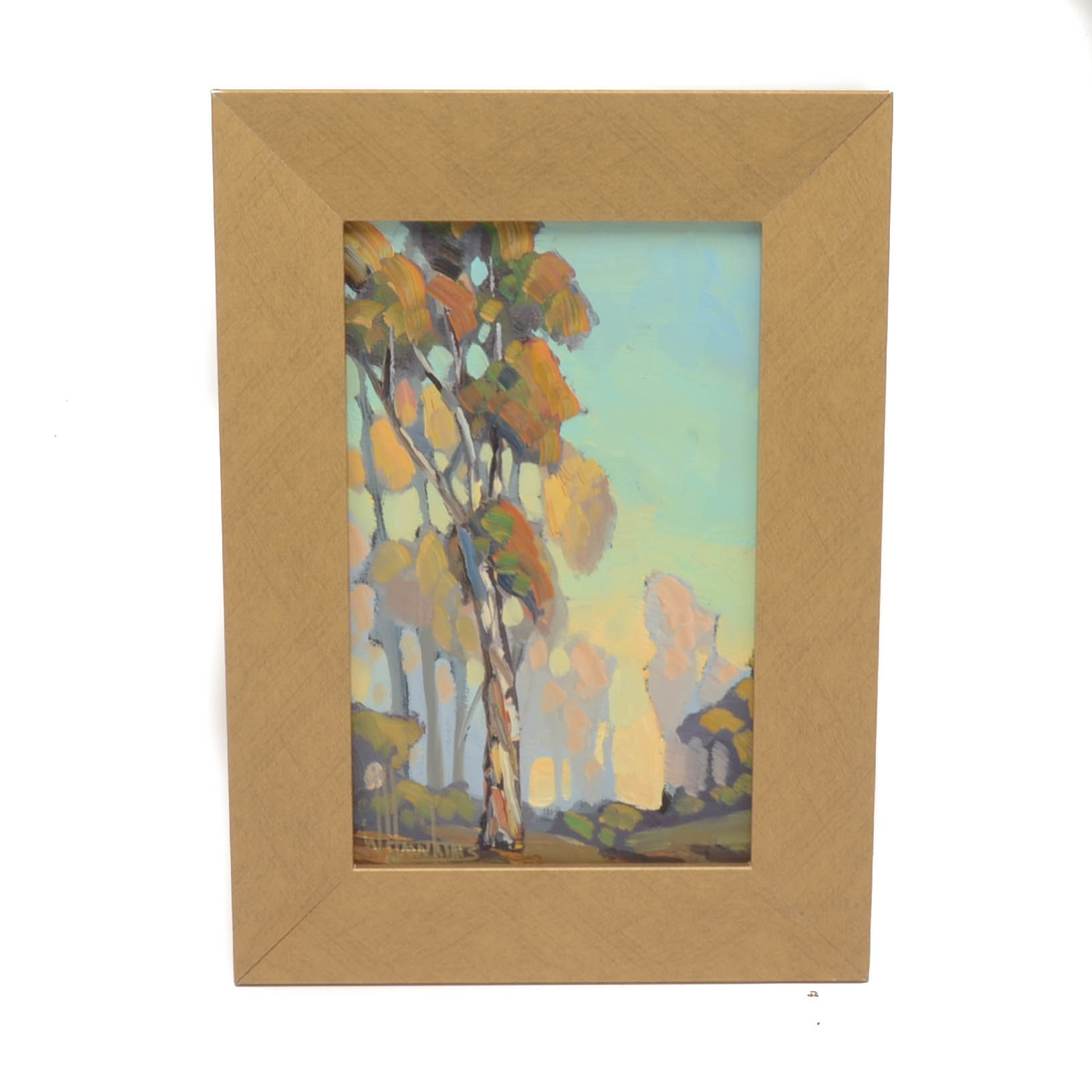 William Hawkins Original Oil Landscape on Canvas Board