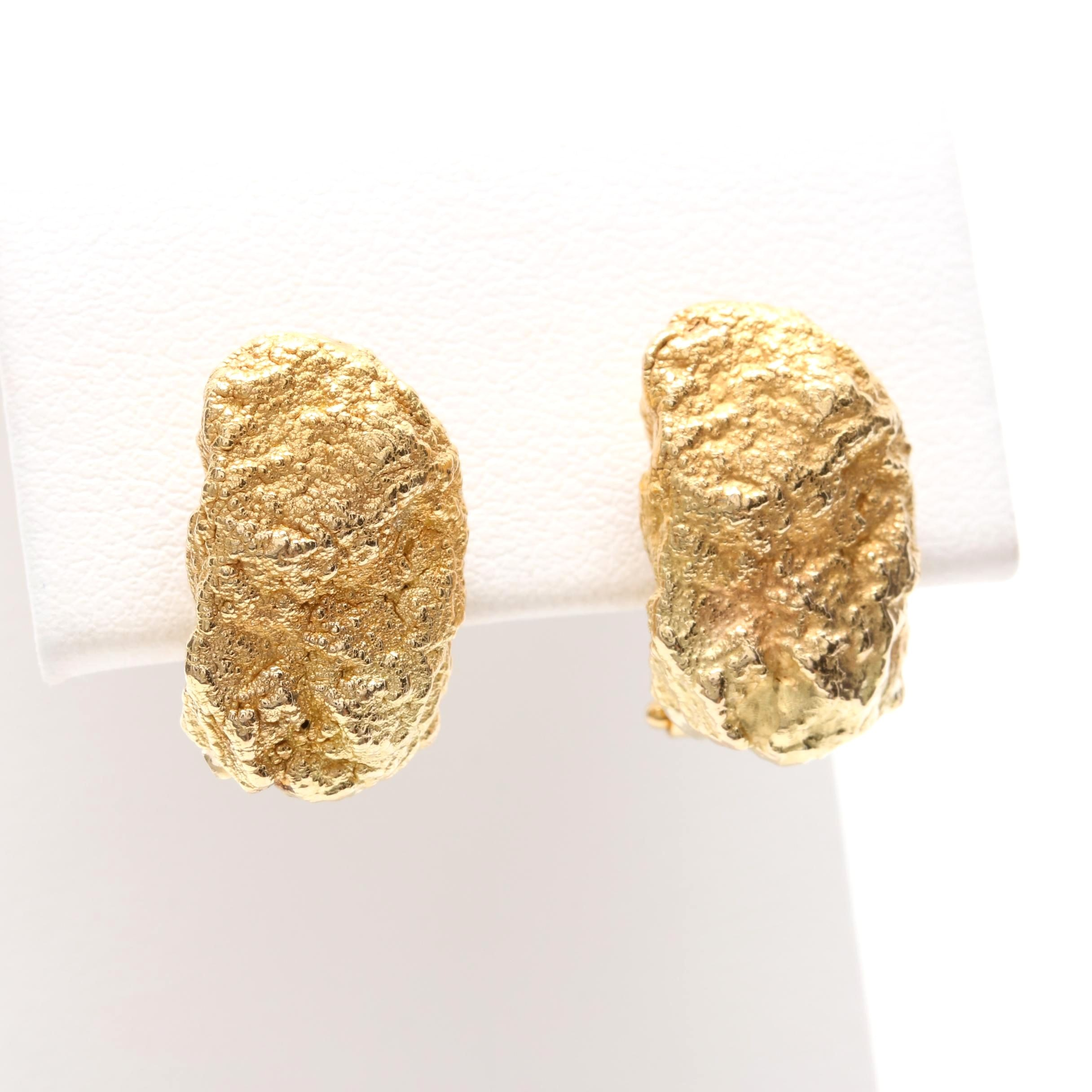 Roberto Coin 18K Yellow Gold Nugget Earrings