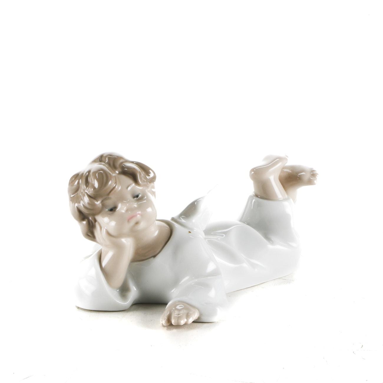 "Lladró ""Reclining Angel"" Figurine"