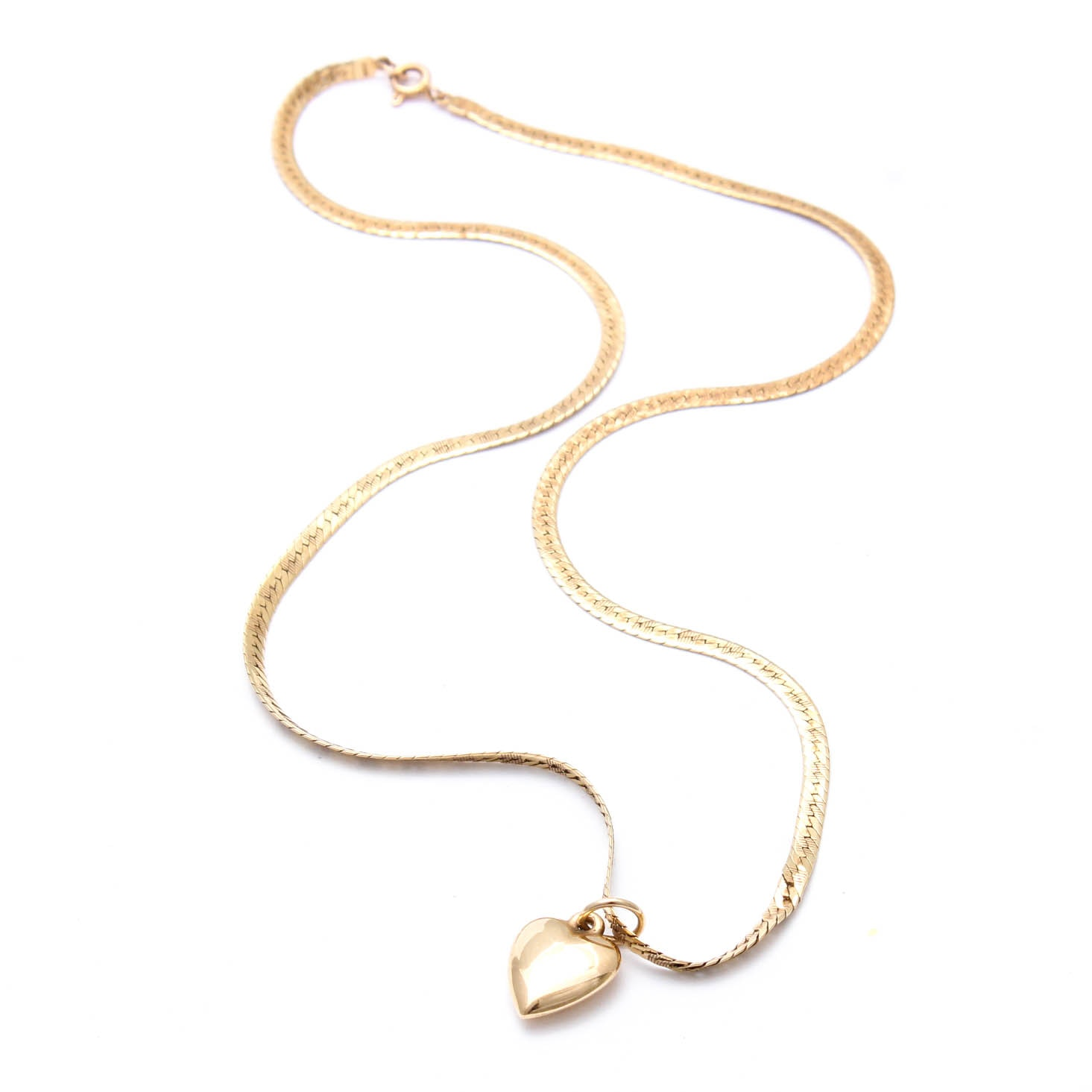 14K Yellow Gold Necklace with Pendant