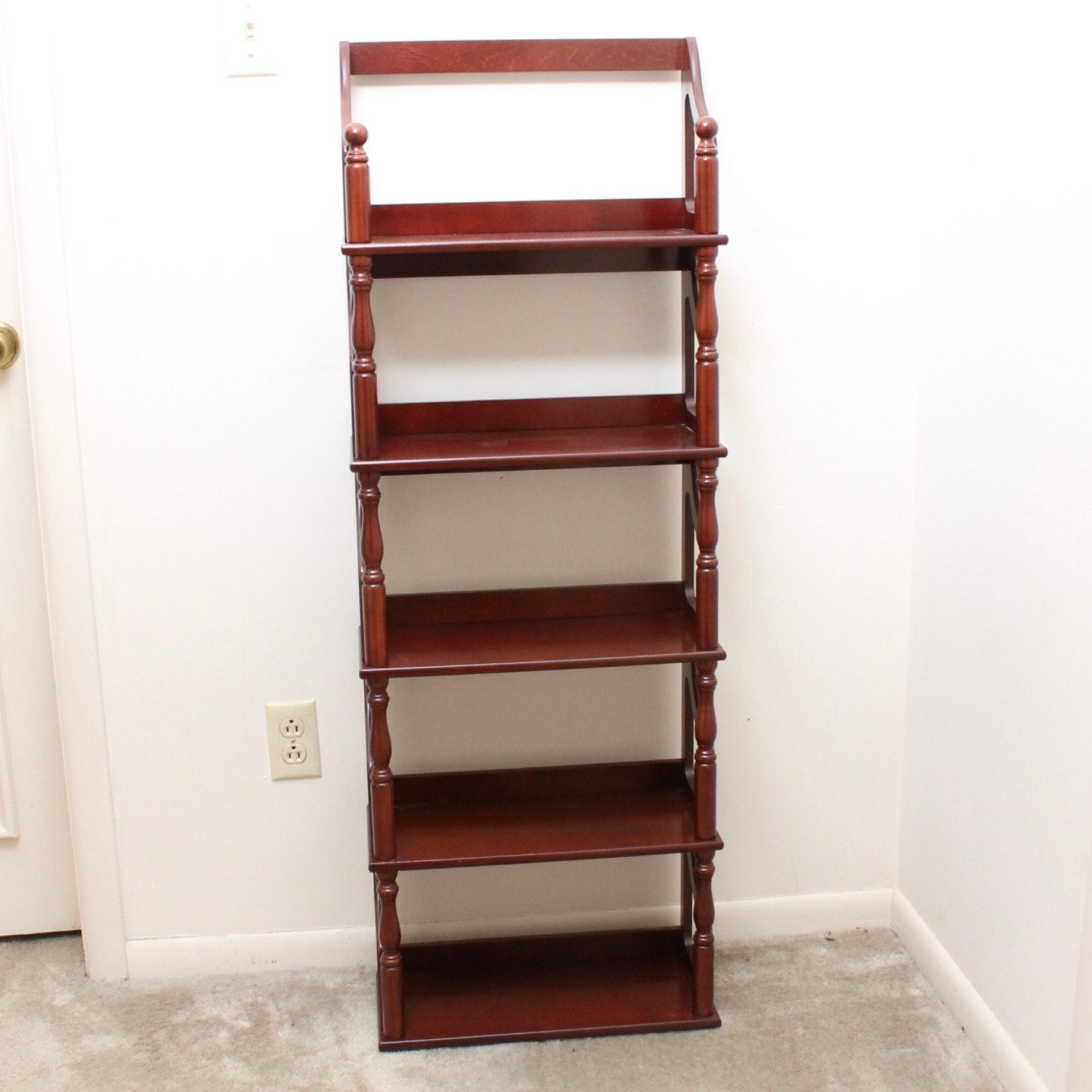 Mahogany Finished Wooden Display Shelf