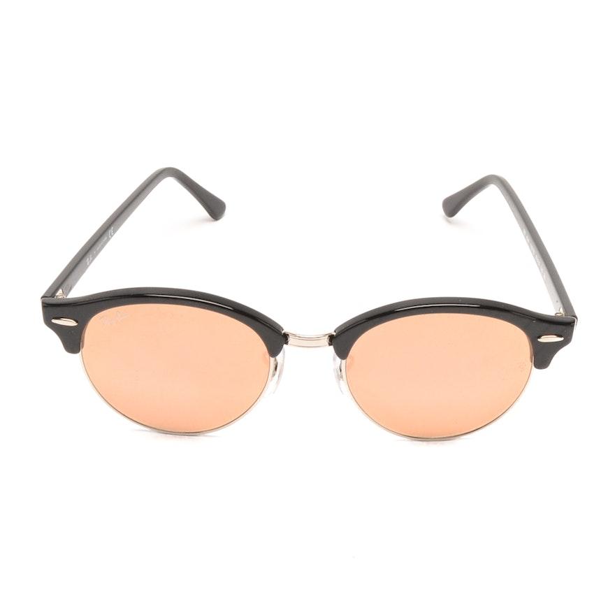 59f6df56b65a75 Ray-Ban Clubround Sunglasses in Black   EBTH
