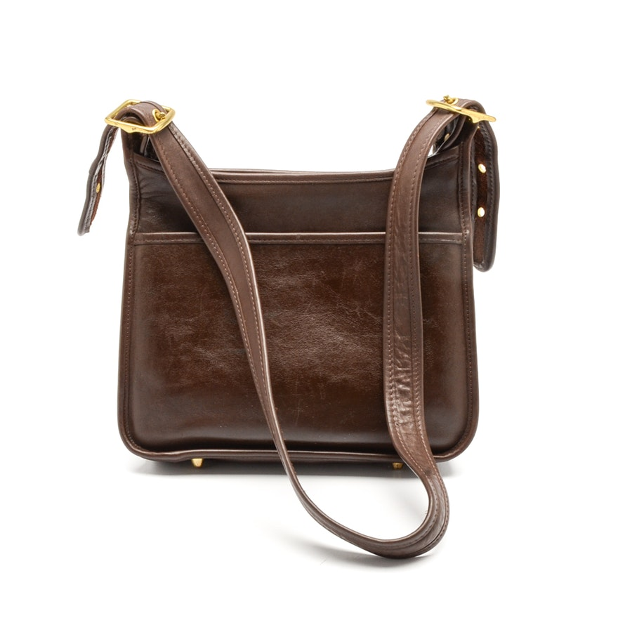 Very best Coach Legacy Brown Leather Shoulder Bag : EBTH RU25