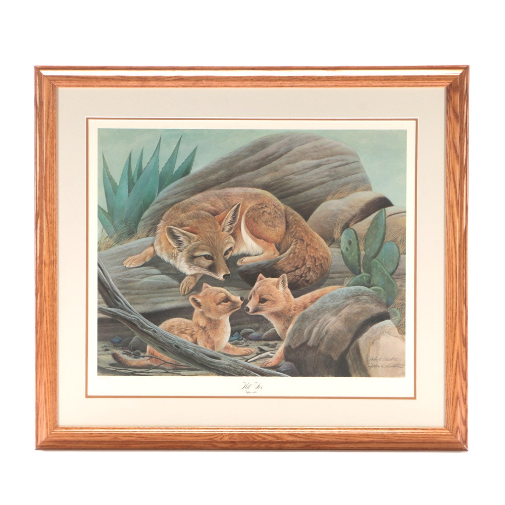 """John Ruthven Limited Edition Offset Lithograph """"Kit Fox"""""""