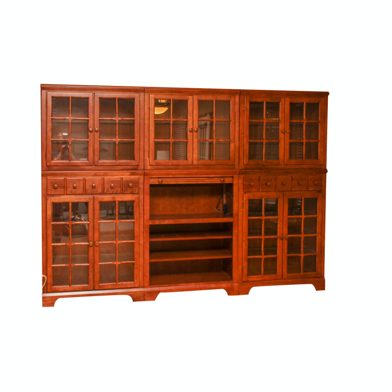 Six Piece Modular China Cabinet