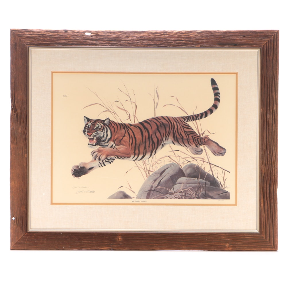 "John Ruthven Signed Limited Edition Offset Lithograph ""Bengal Tiger"""