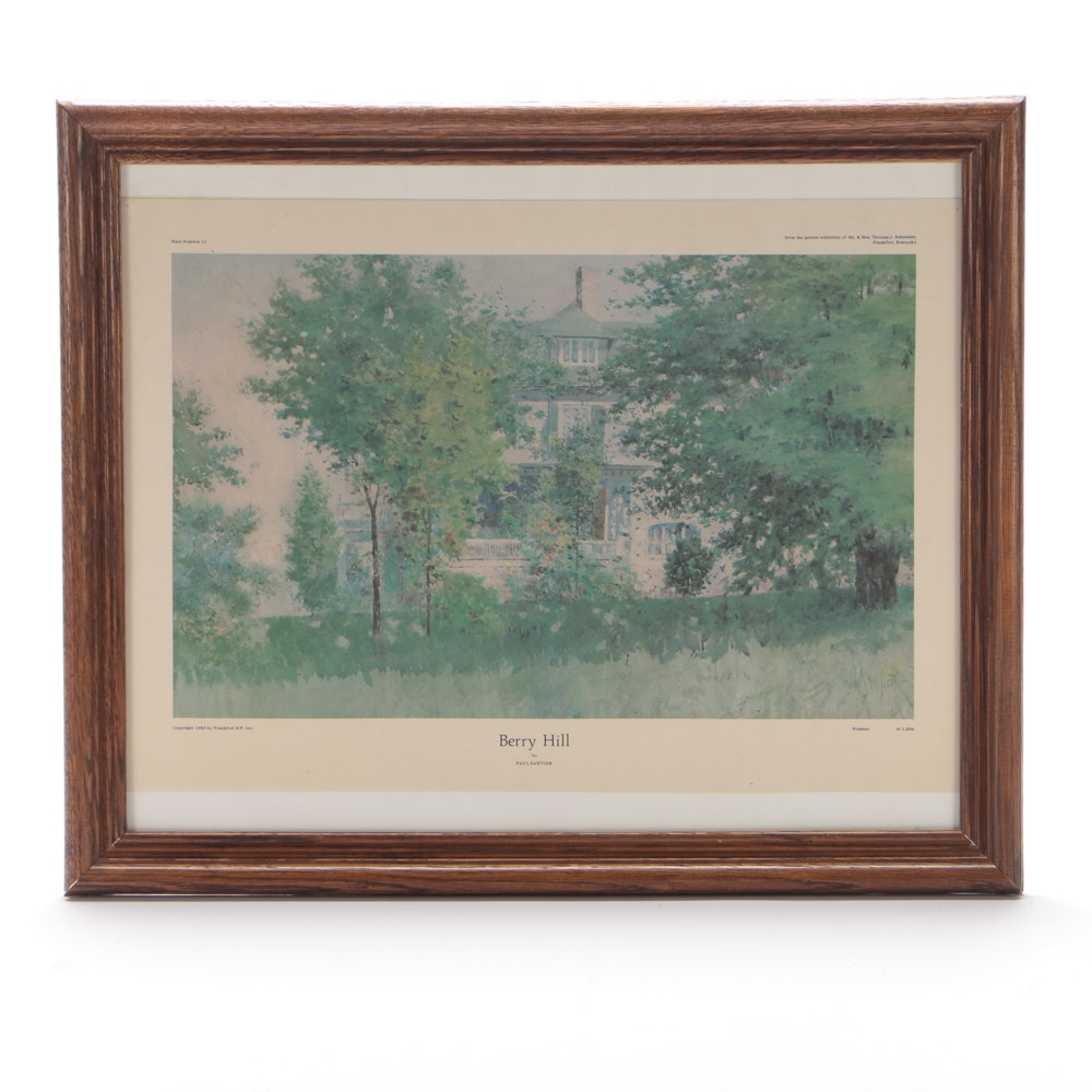 "Offset Lithograph after Paul Sawyier ""Berry Hill"""