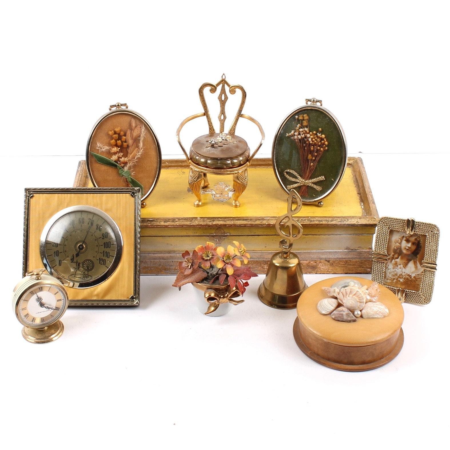 Vintage Gold Tone Vanity Decor