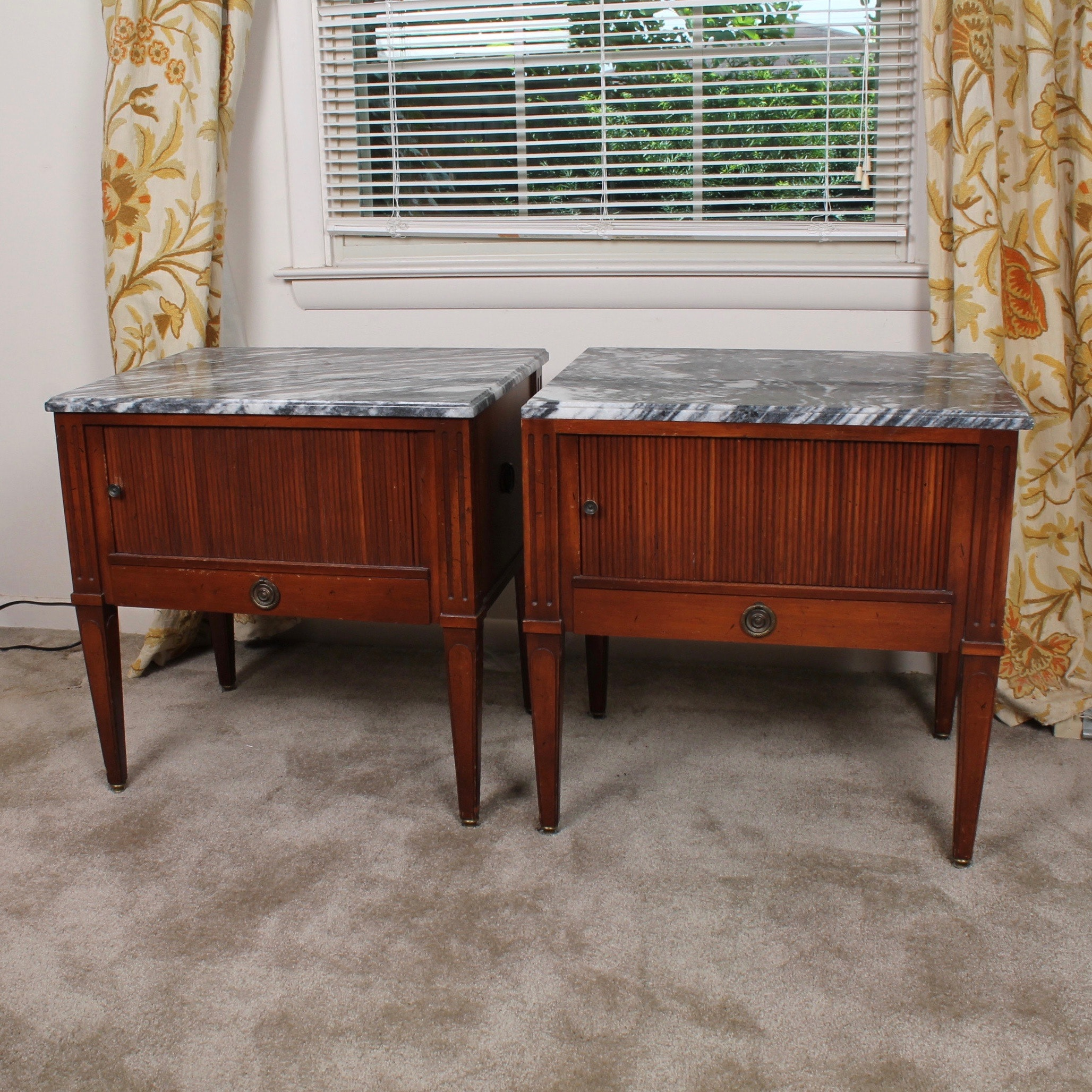 Vintage Tomlinson Marble Top Accent Tables
