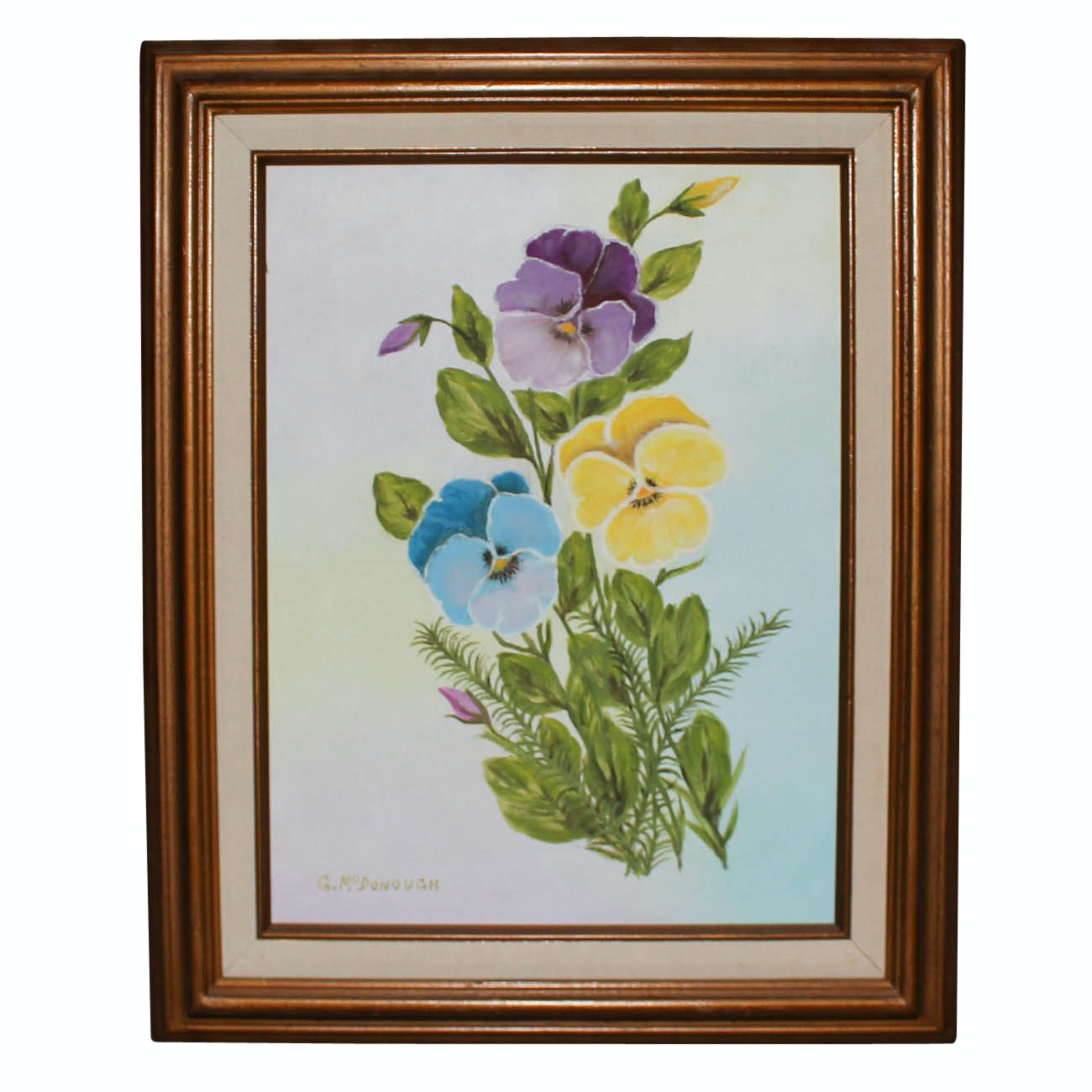 G. McDonough Oil Painting of Flowers