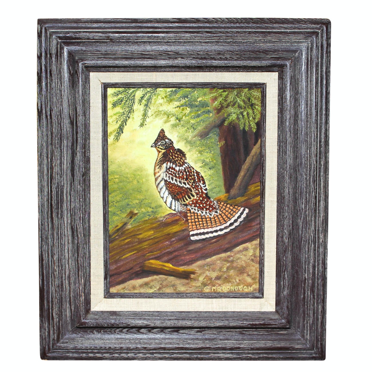 G. McDonough Oil Painting of Bird