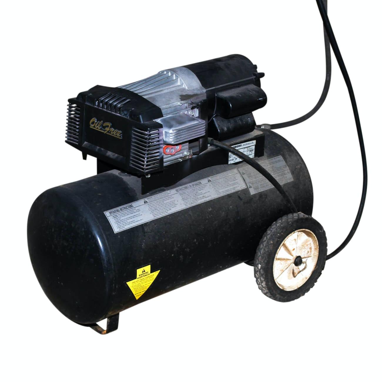 Oil Free Sanborn Black Max Air Compressor
