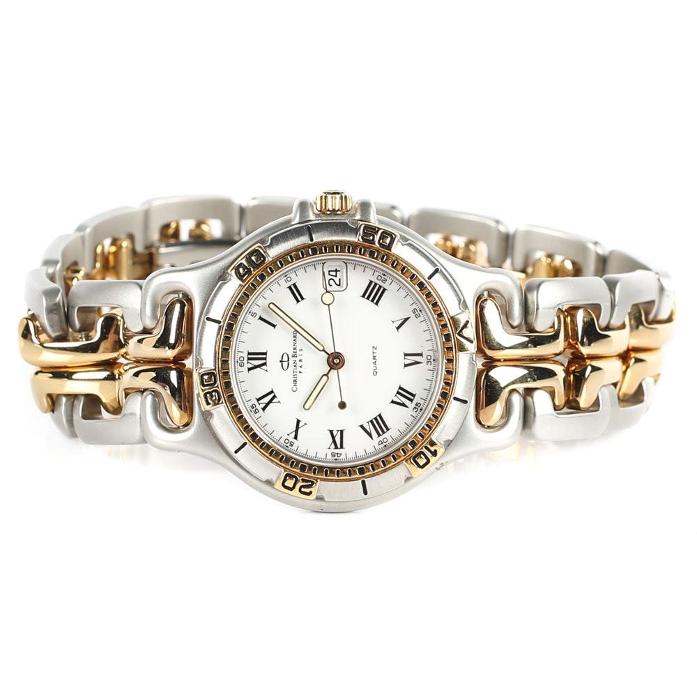 Christian Bernard Paris Stainless Steel Wristwatch