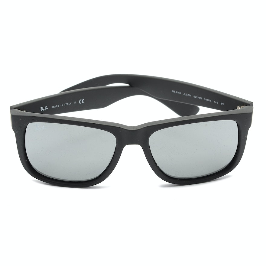 32a9cd9744 Ray-Ban Justin Sunglasses in Black   EBTH