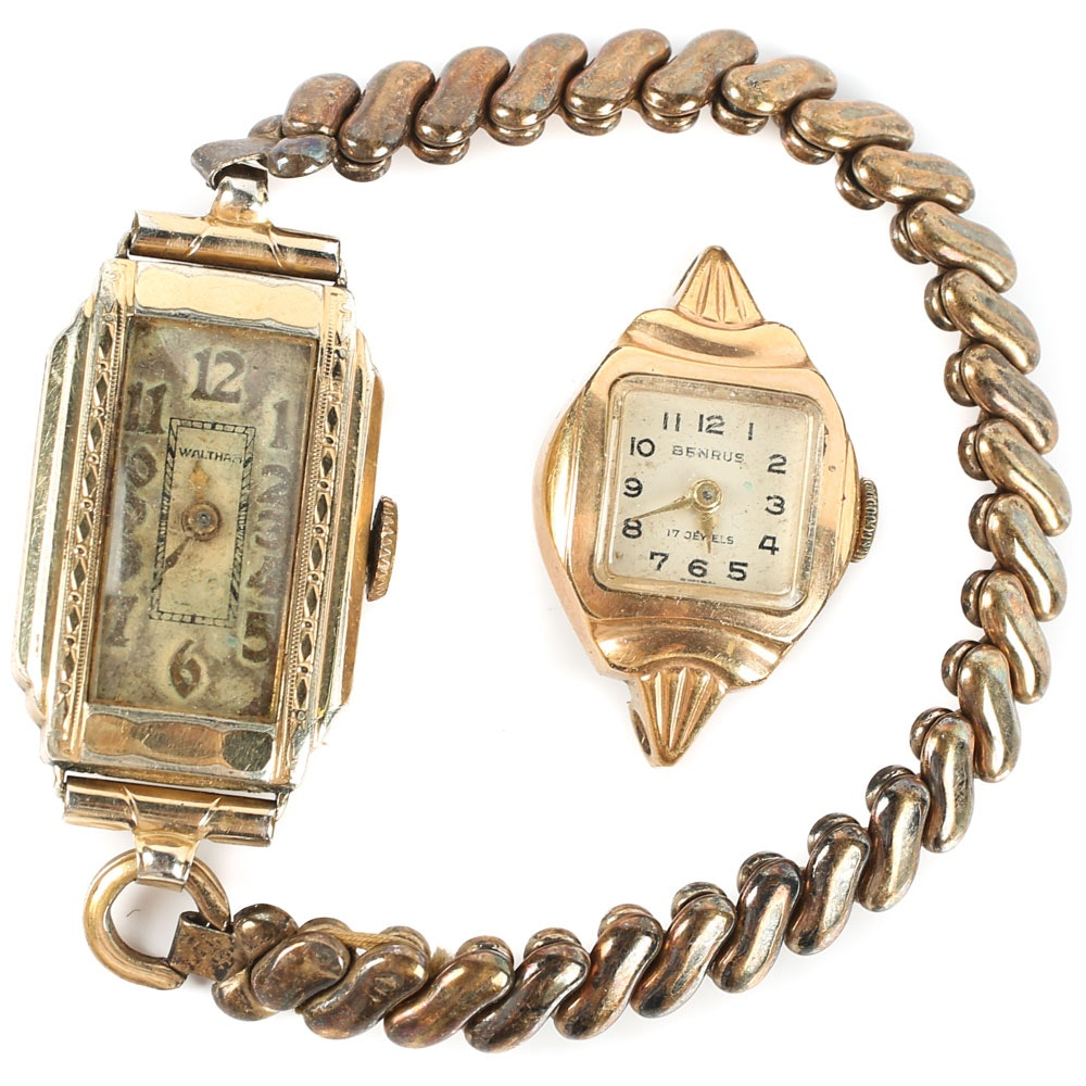 Vintage Wristwatches Including Waltham and Benrus
