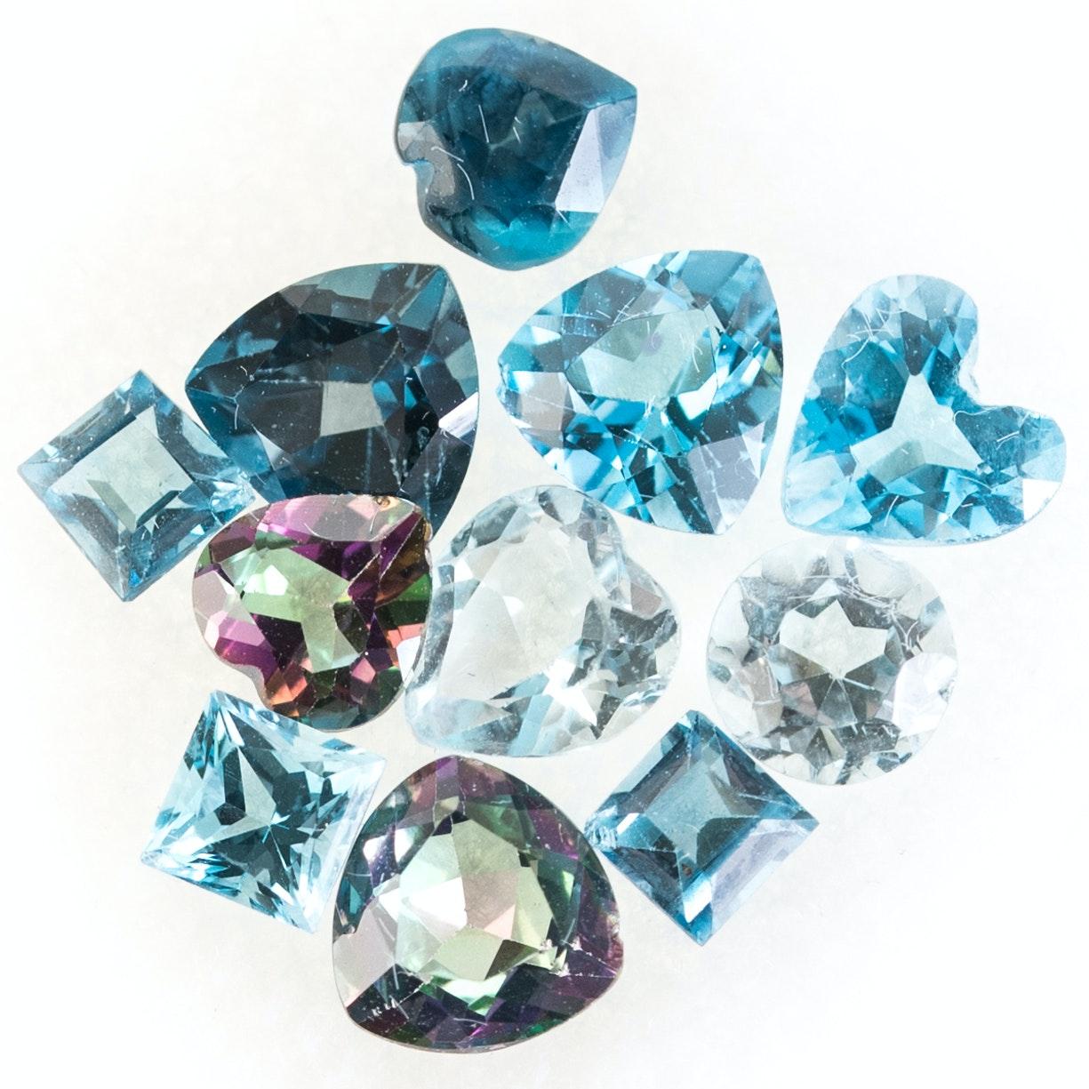 Loose 6.96 CTW Topaz Gemstones