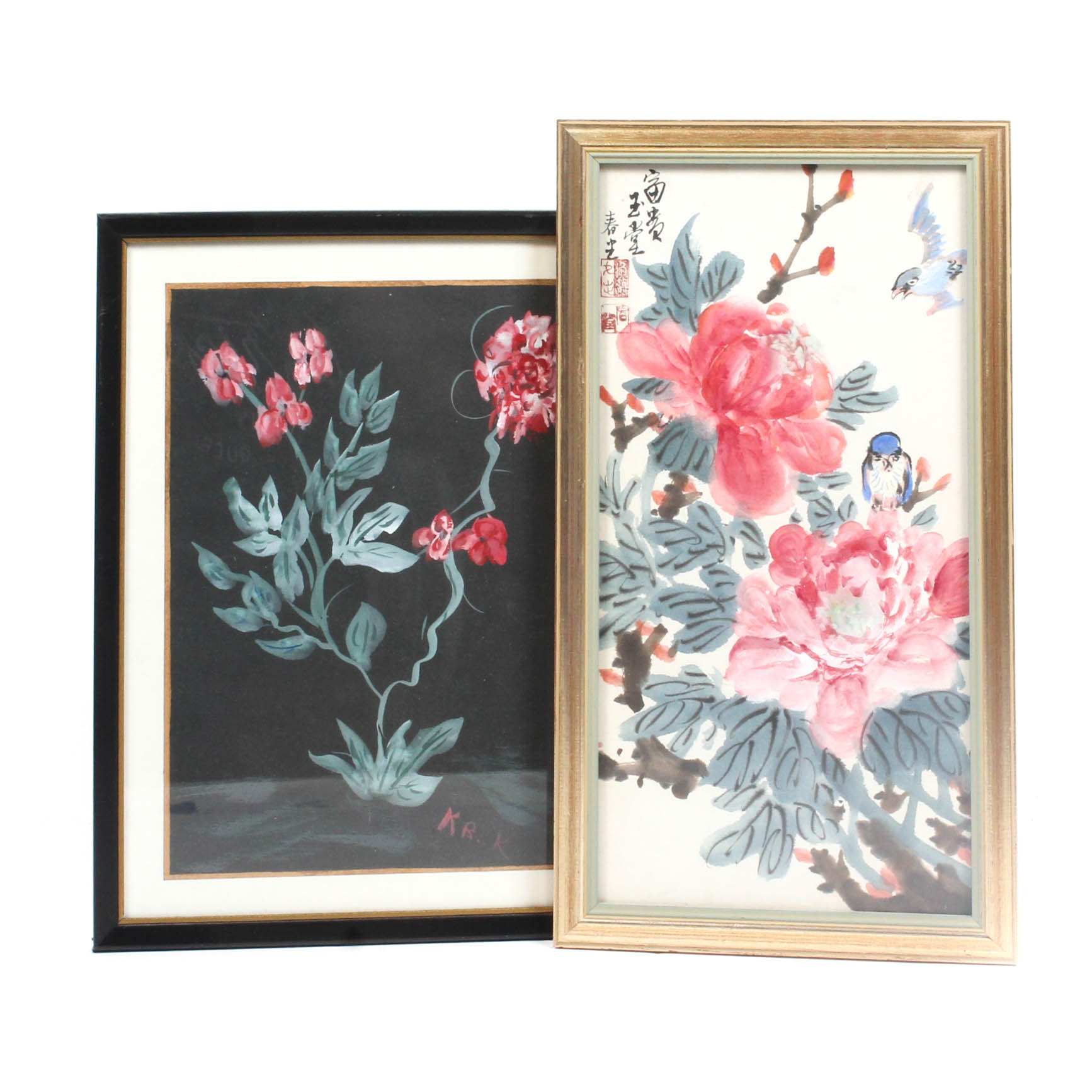 Original Hand-Painted Watercolor Florals
