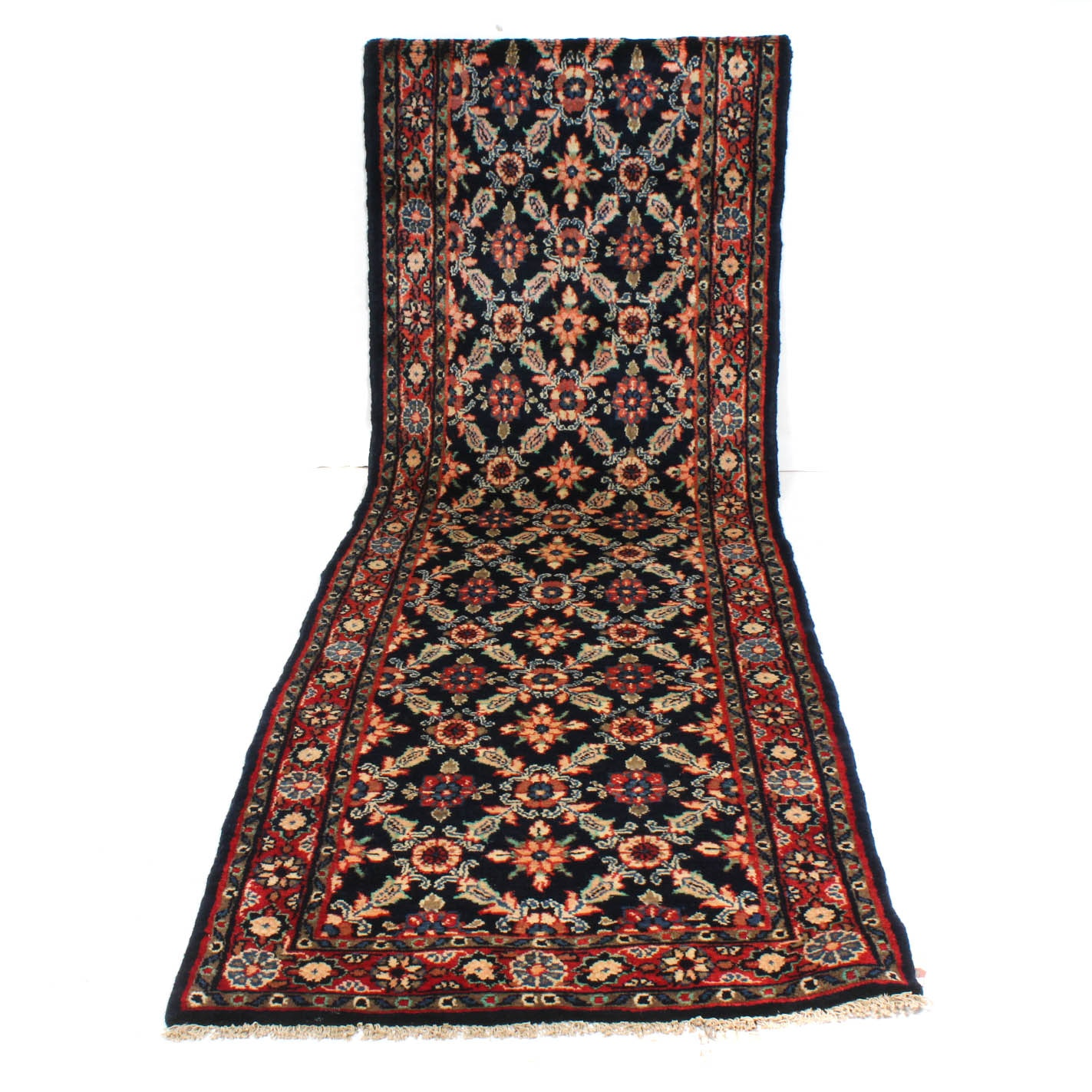 Vintage Hand-Knotted Persian Hamadan Runner