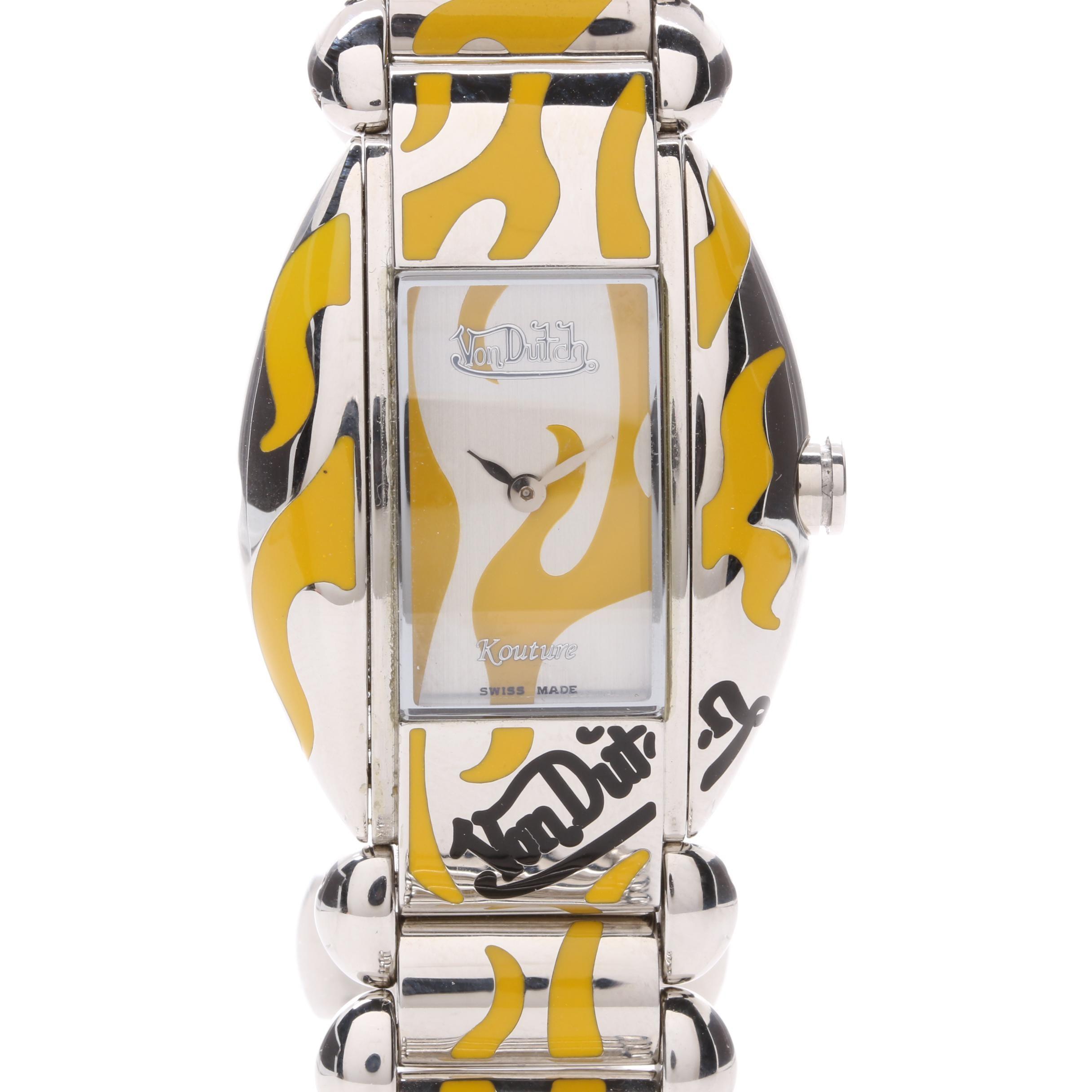 Von Dutch Stainless Steel Enamel Wristwatch