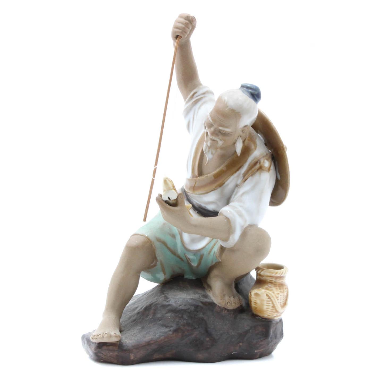 Chinese Fisherman Figurine