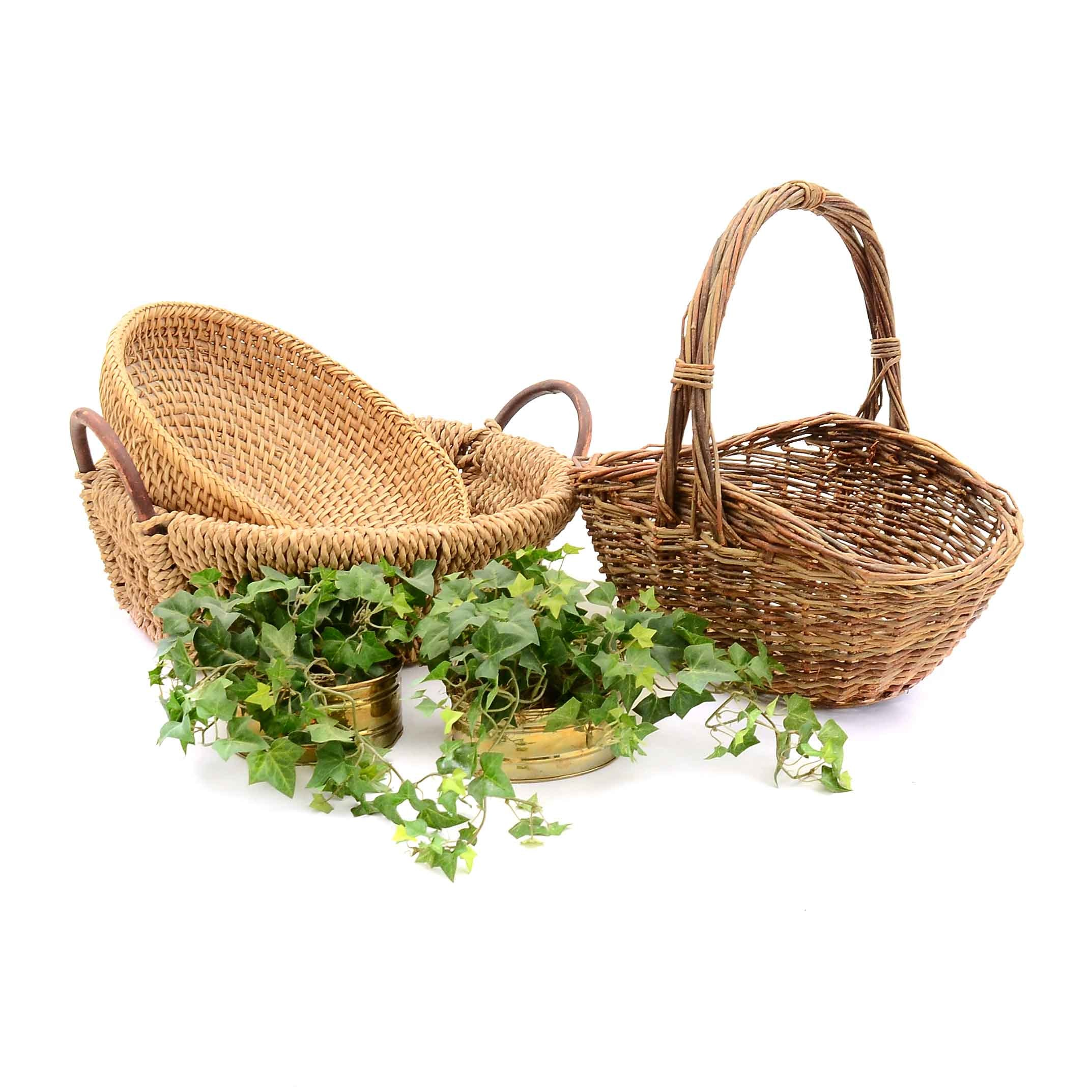 Assorted Baskets and Decor