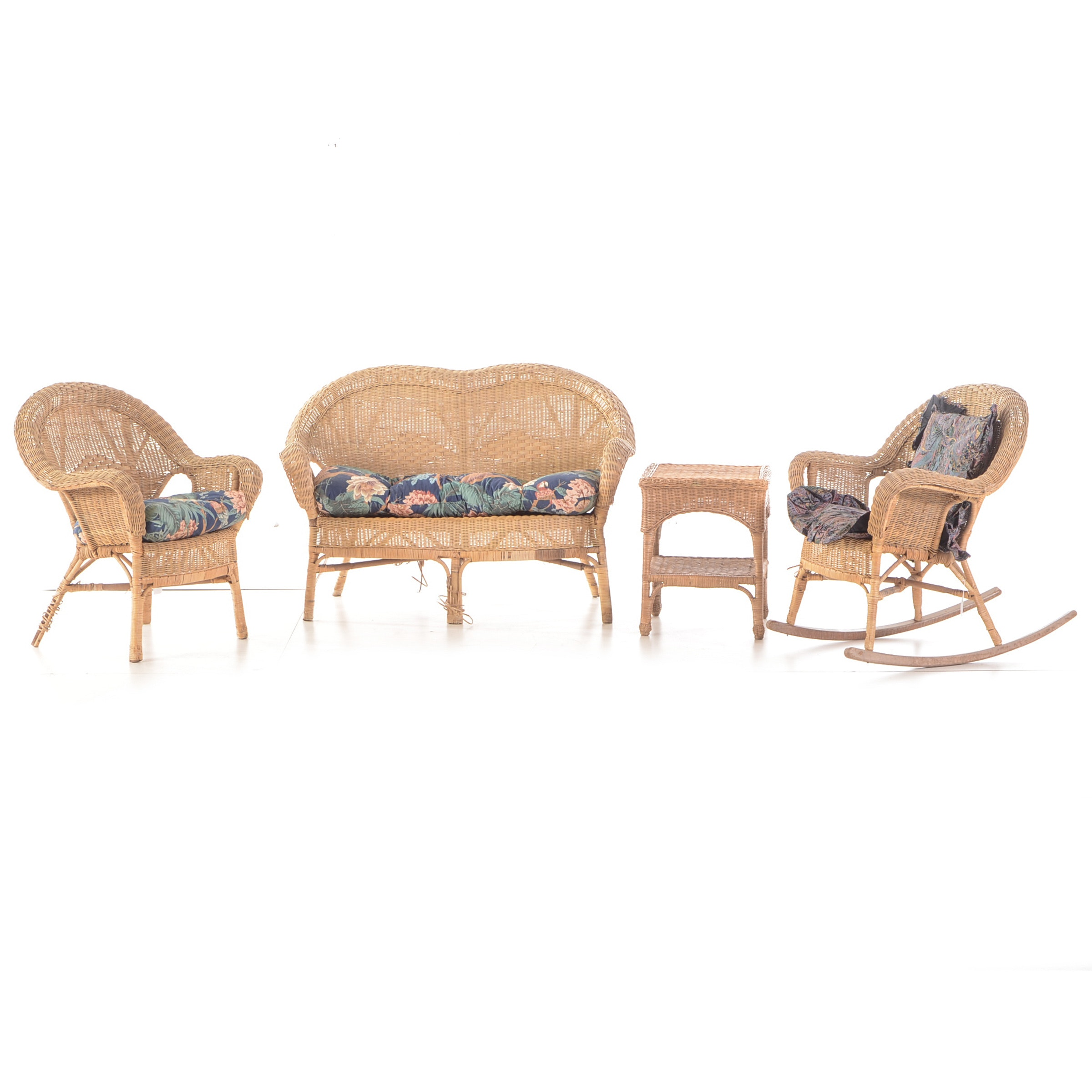 Four Piece Wicker Set