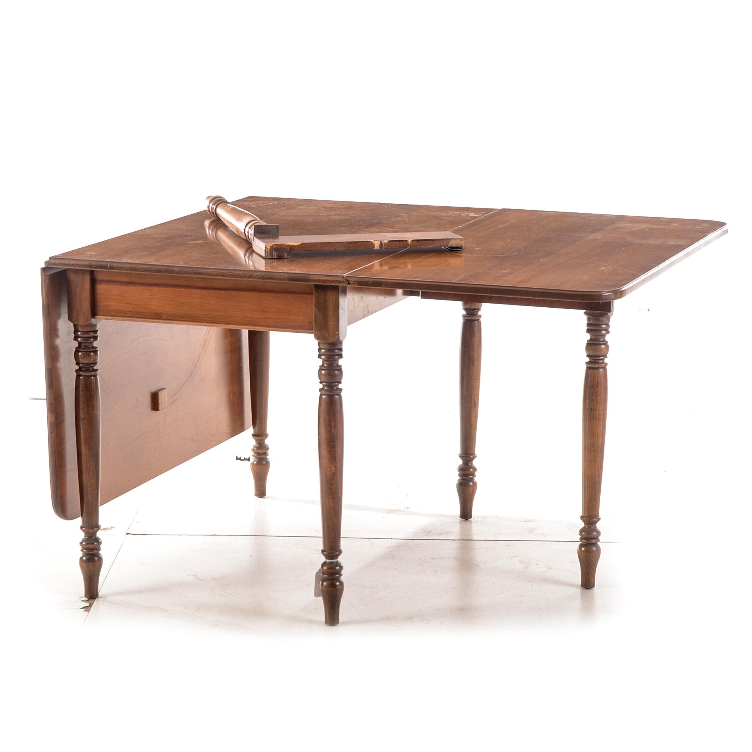 Walnut Drop-Leaf Dining Table