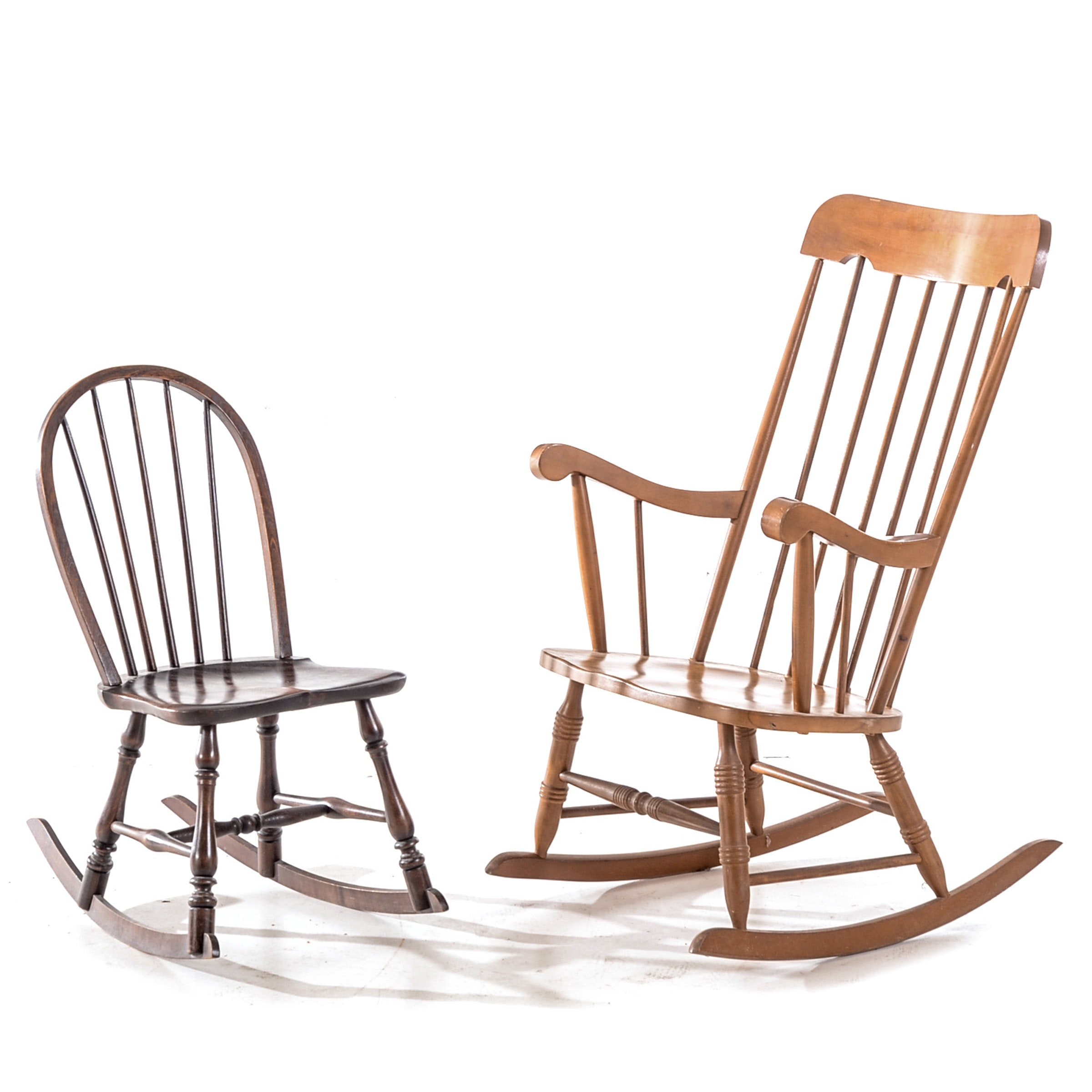 Two Vintage Rocking Chairs