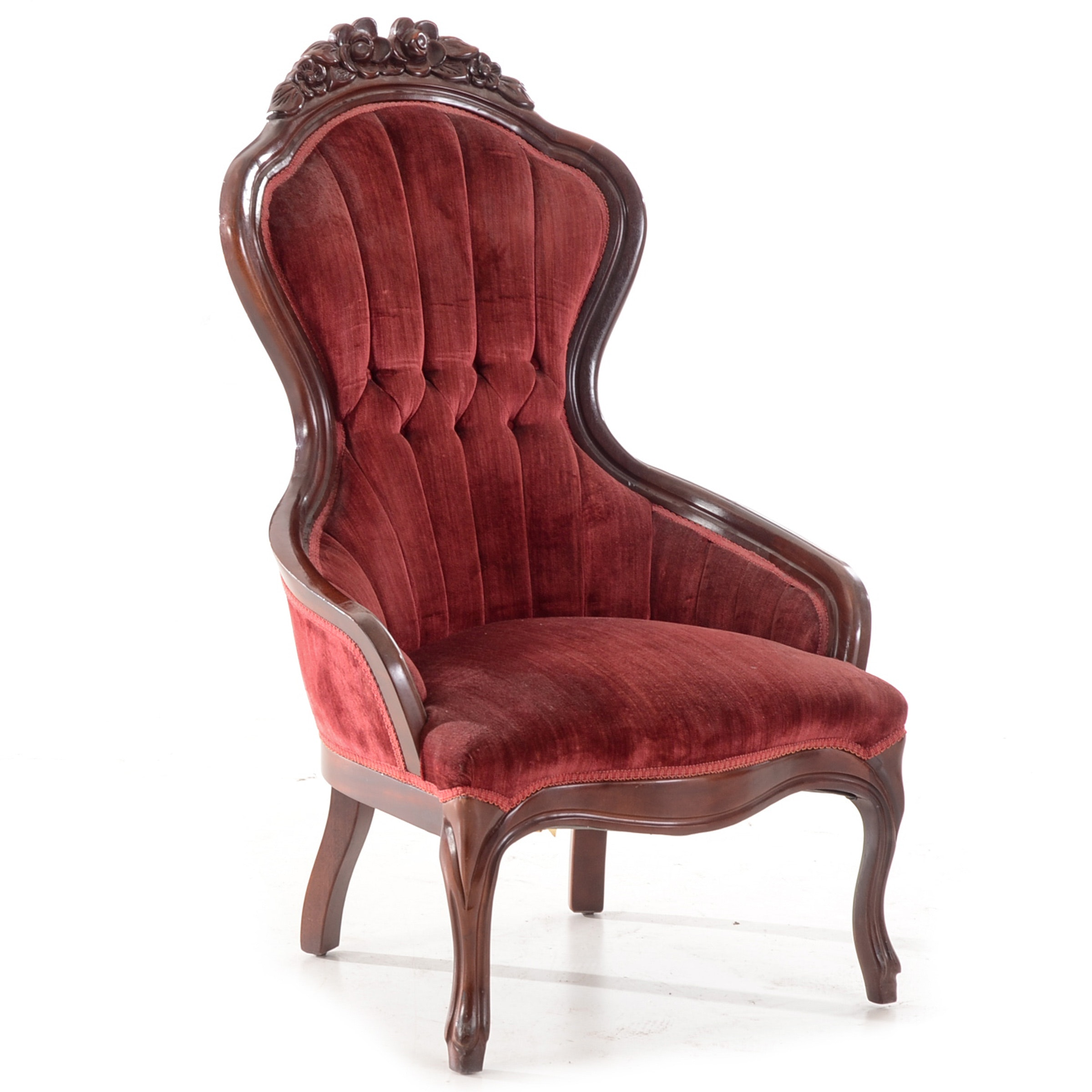Victorian Style Rose Carved Arm Chair