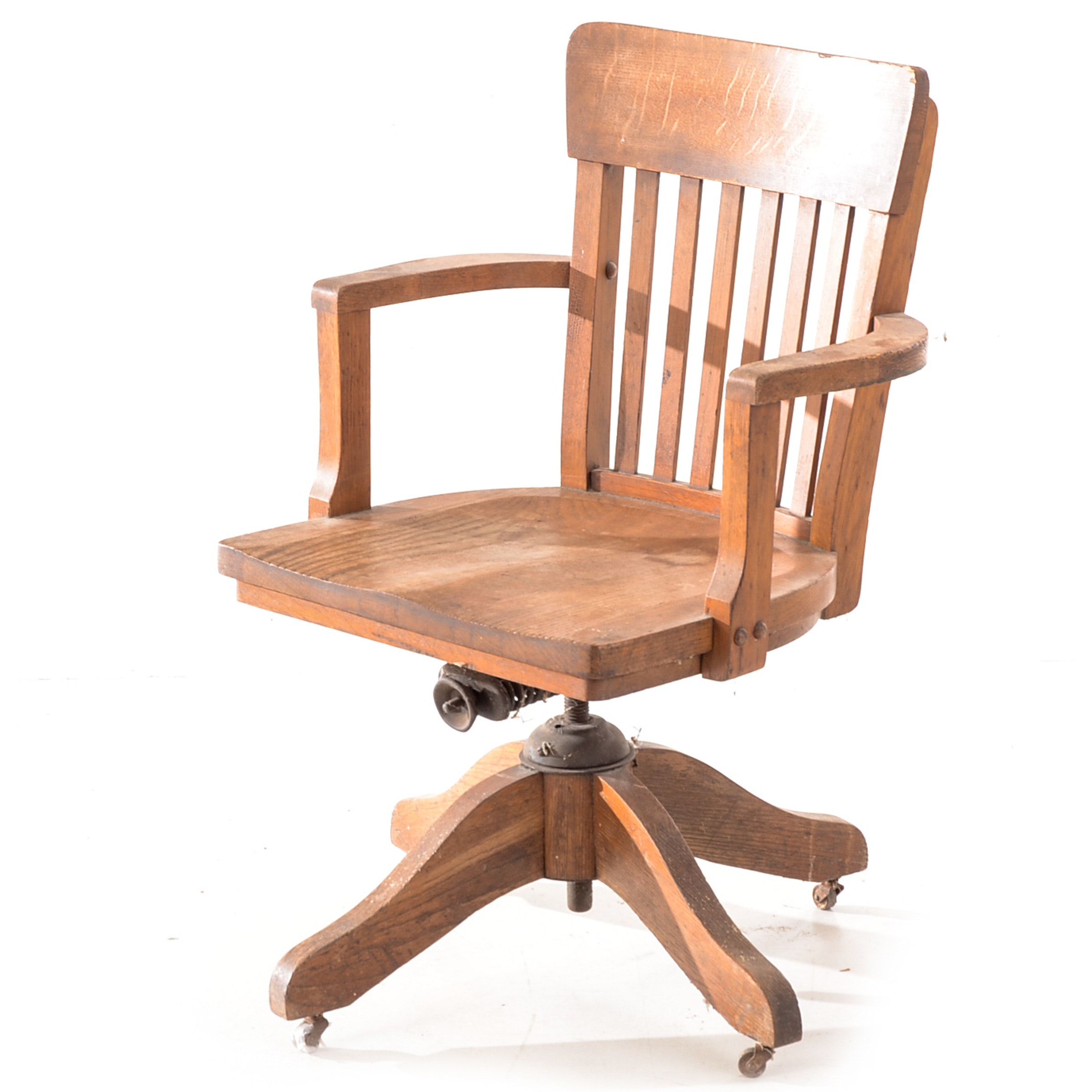 Antique Oak Desk Chair