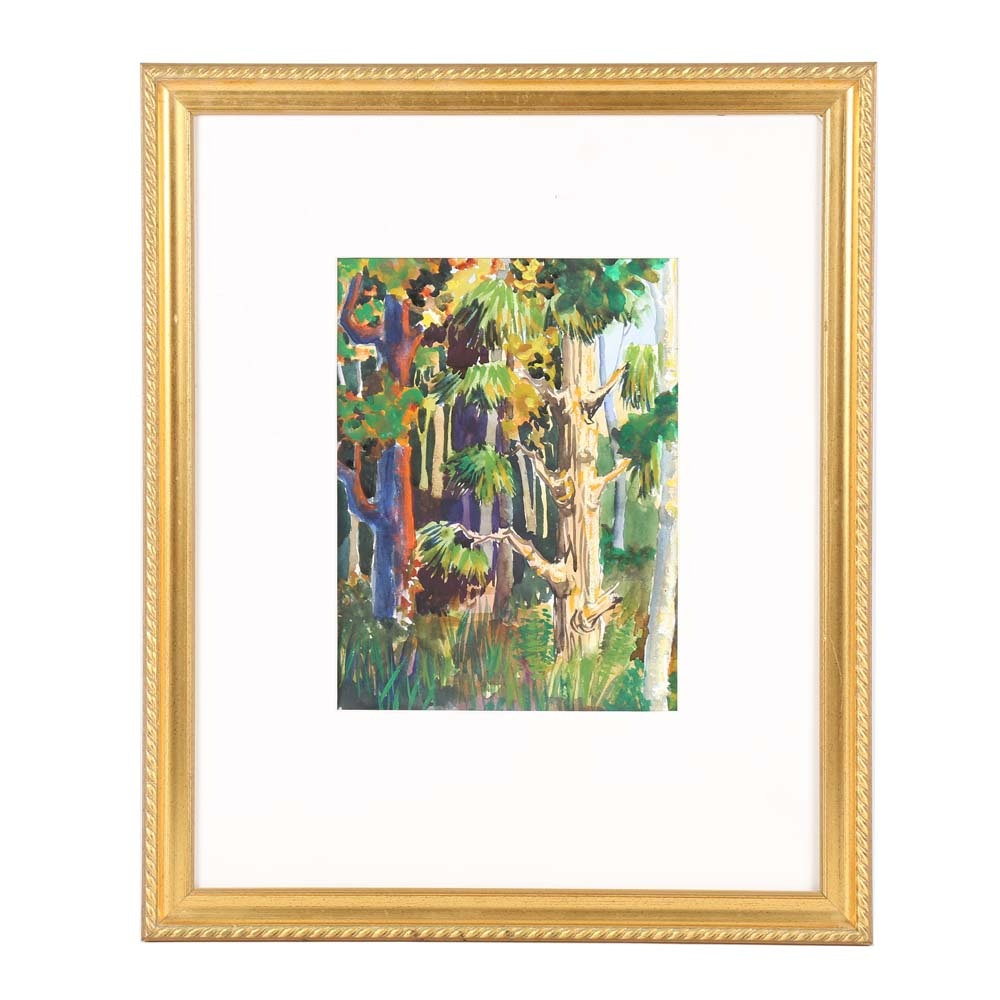 Original Gouache Painting on Paper