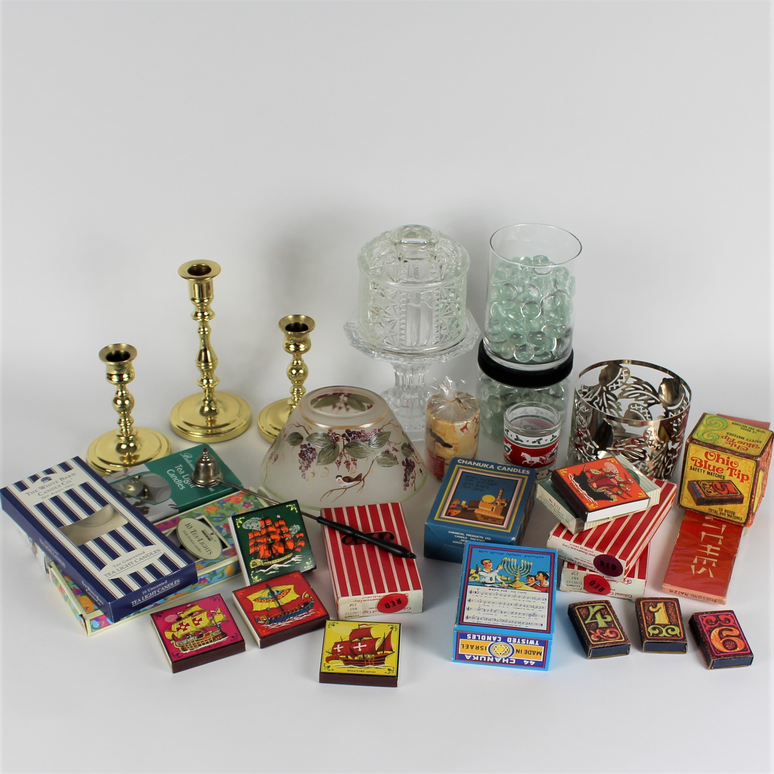 Baldwin Brass Candleholders, Collector's Matches and More