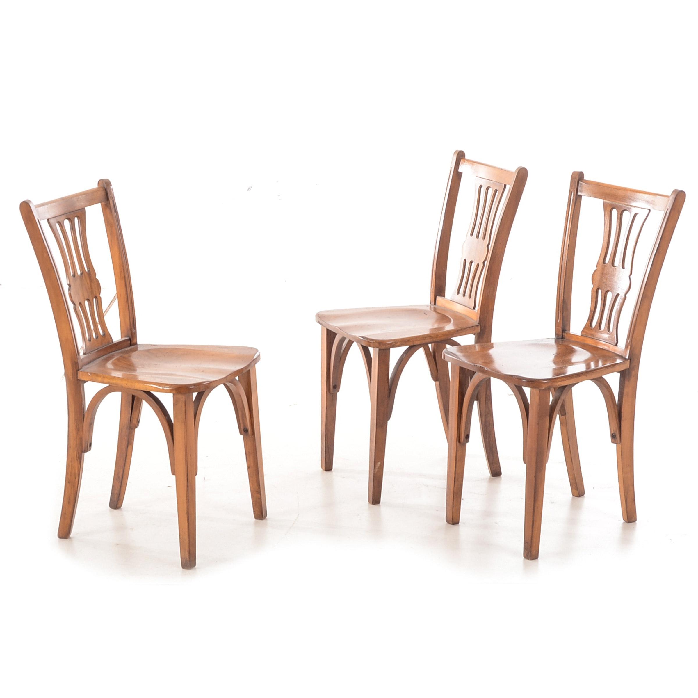 Three Vintage Birch Side Chairs