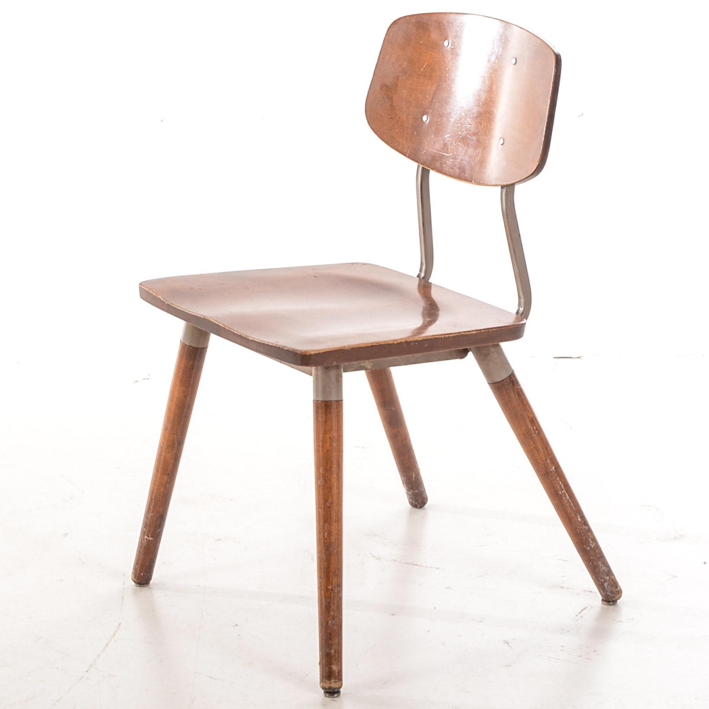 Hill-Rom Walnut Side Chair
