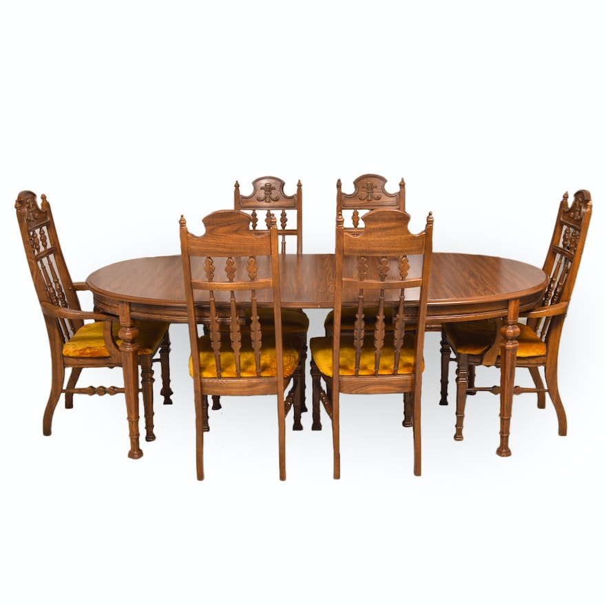 Spanish Revival Style Dining Set