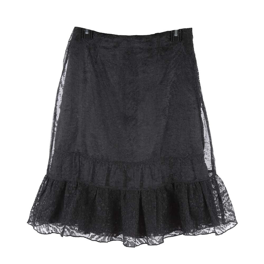 Oscar by Oscar de la Renta Black Lace Skirt