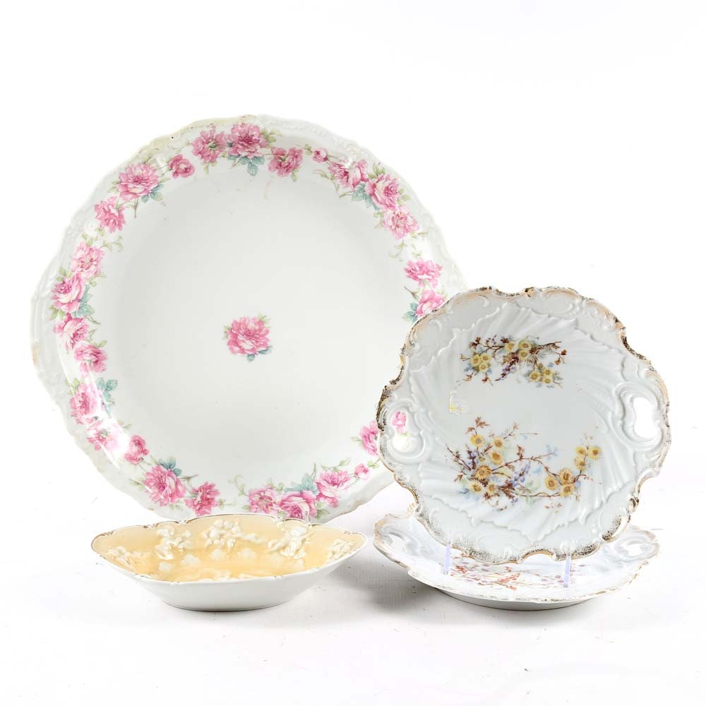 Collection of Porcelain Tableware Featuring Limoges
