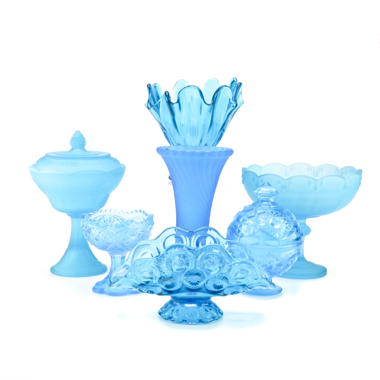 Blue Glassware Collection