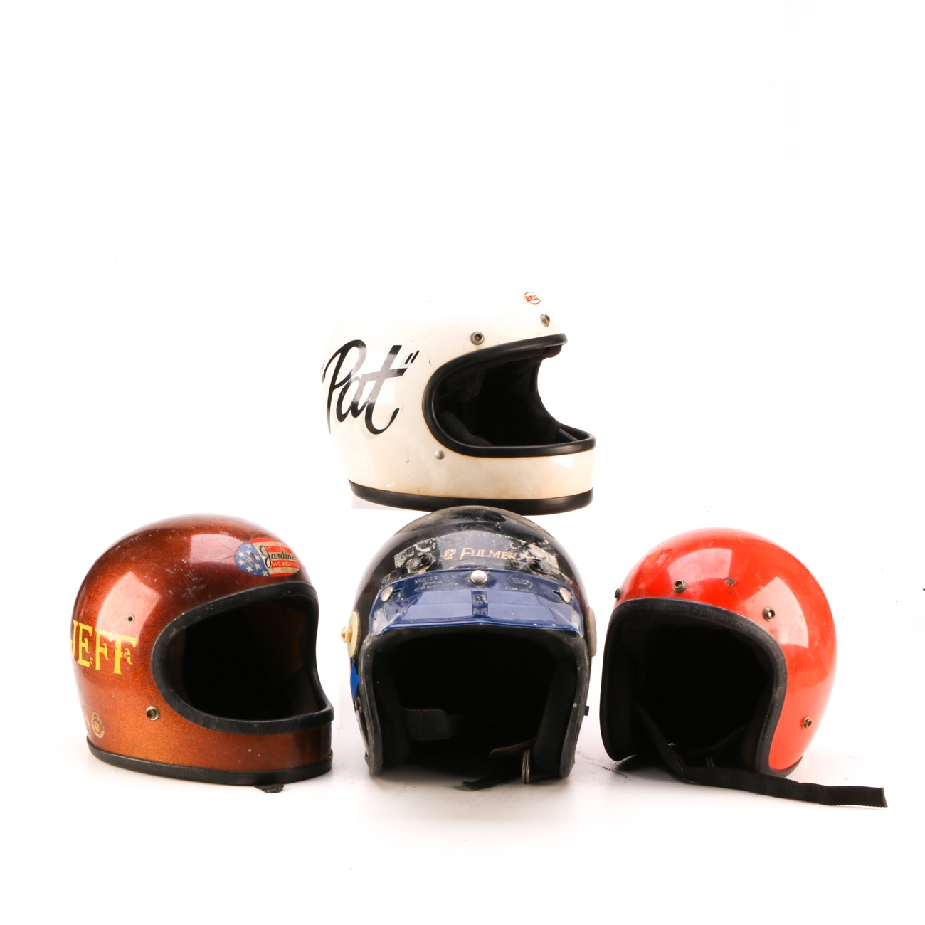Four Youth-Size Motorcycle Helmets