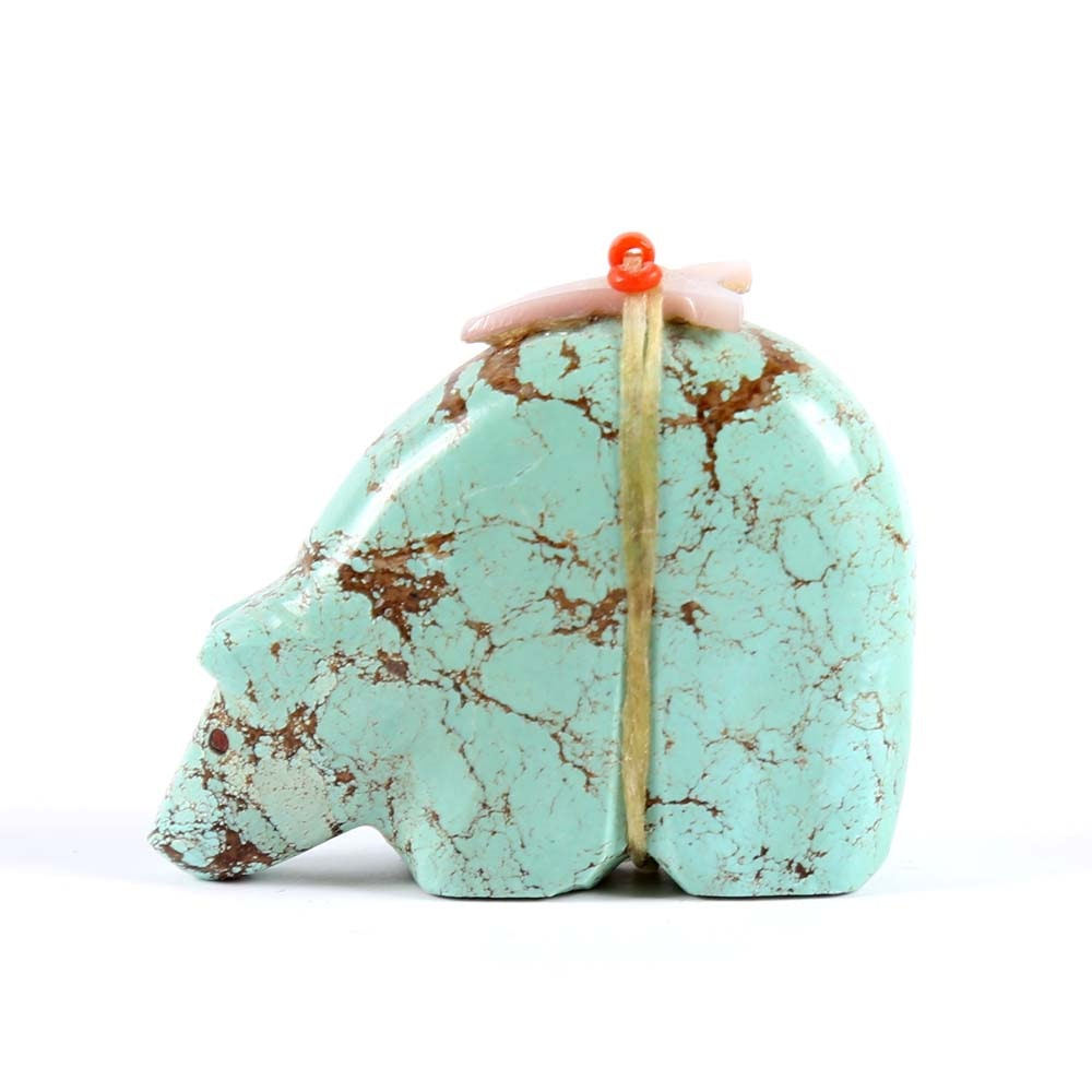 Carved Turquoise Fetish Bear