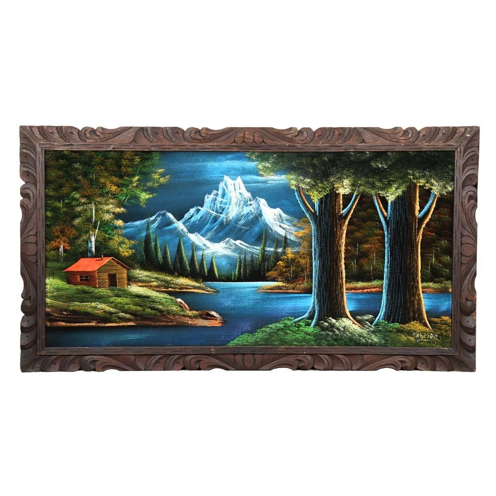 Salcido Acrylic Mountain Landscape