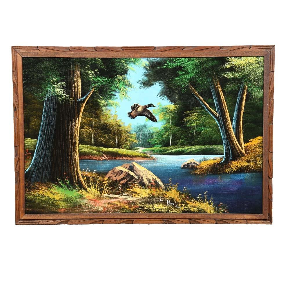 Noriz Acrylic River Landscape