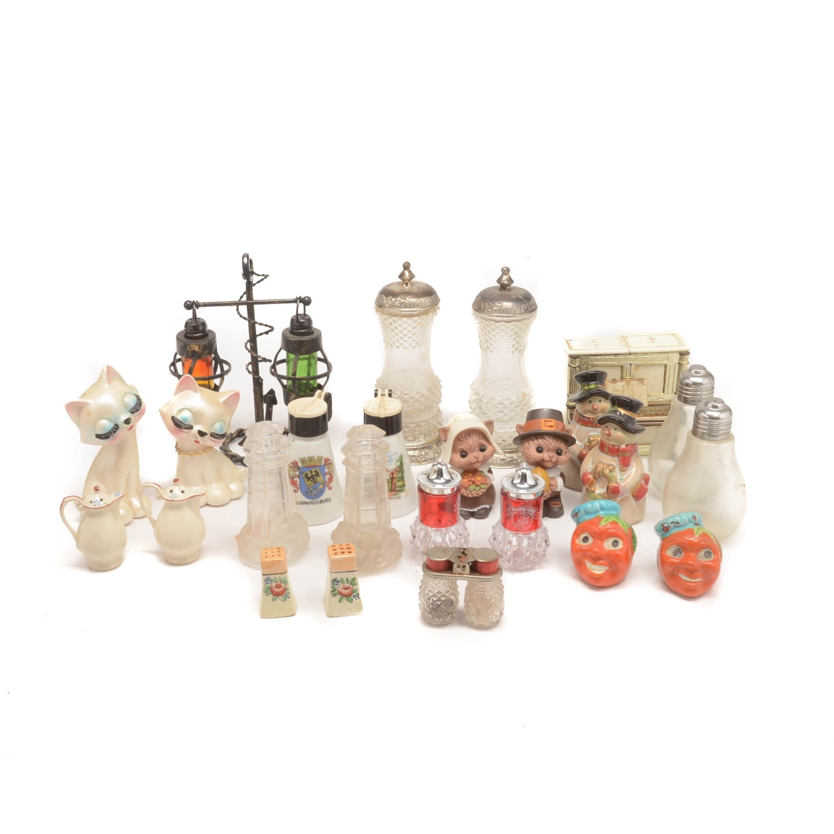 Vintage Salt and Pepper Shakers Featuring Lenox