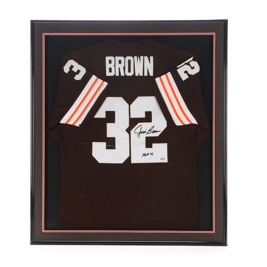23f290703b9 Jim Brown Signed Jersey COA   EBTH