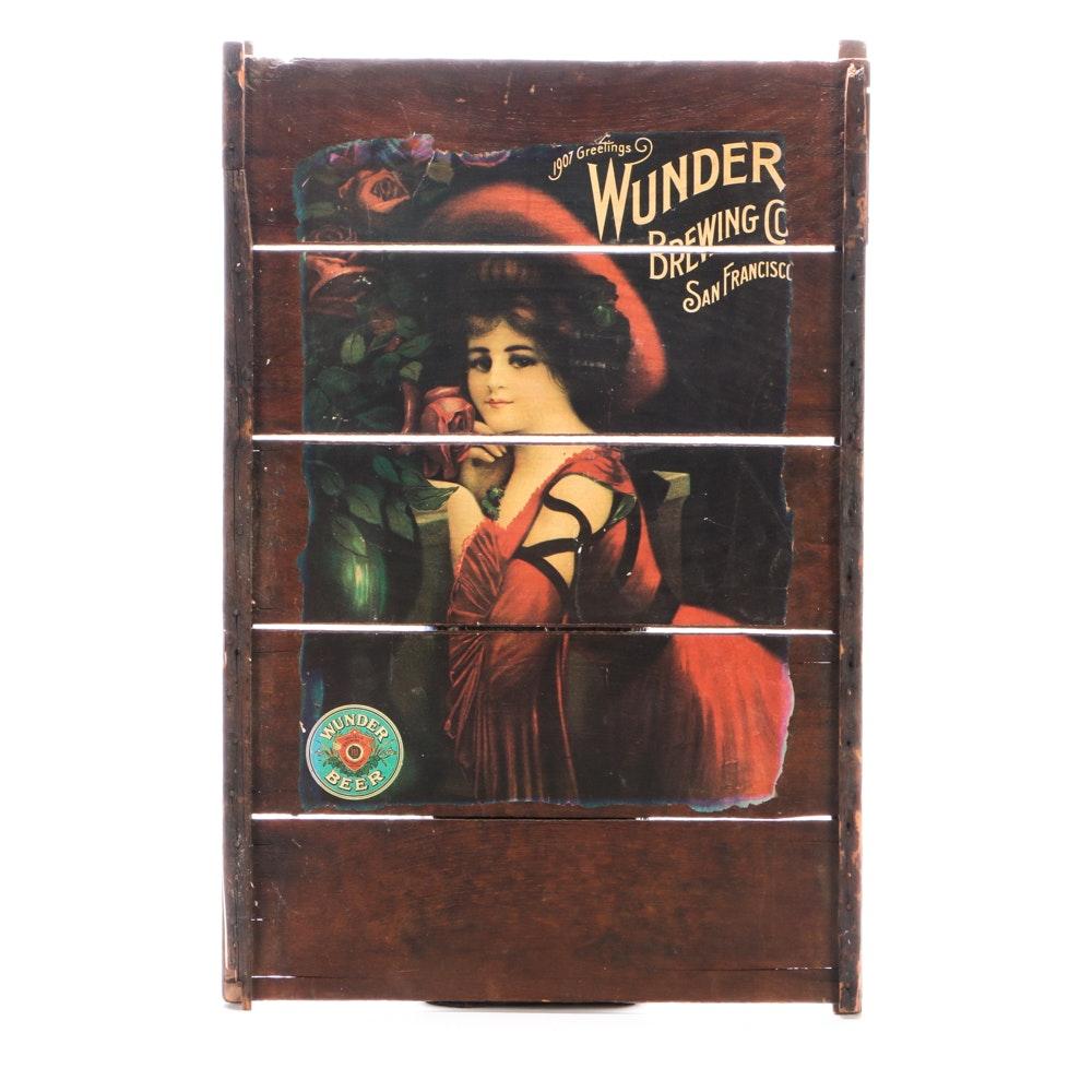 Wunder Brewing Company Nostalgic Wood Display