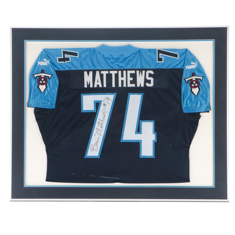 Bruce Matthews Signed Titans Jersey